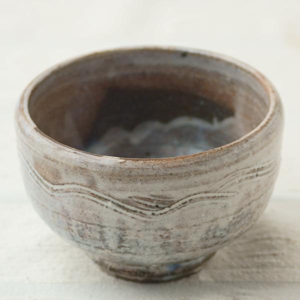 粉引線紋茶碗