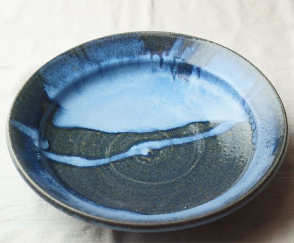 青白流し平鉢