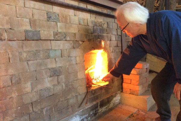 2019年初窯 窯焚き
